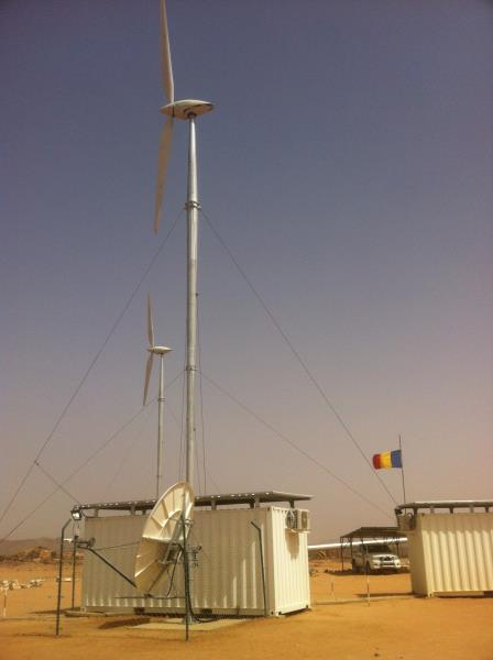 The facility in Amdjarass also benefits from a redundant VSAT link for high-speed M2M data transmission.