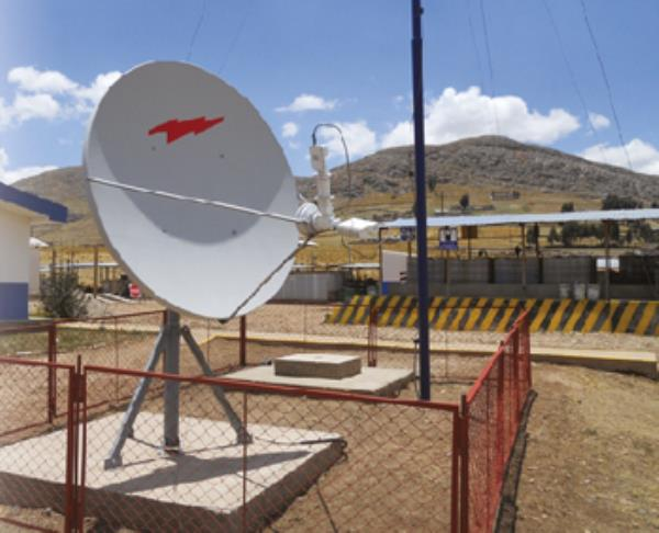 Antenna installed at a mining site