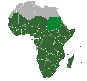The sub-Saharan Africa region