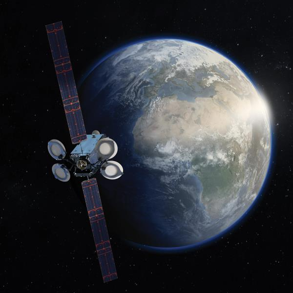 Spacecom's Amos-17 geostationary satellite has C-band spot beams covering a large proportion of Africa, some Ka-band steerable beams centered on Nigeria and South Africa, and Ku-band beams covering Western Africa and Southern Africa